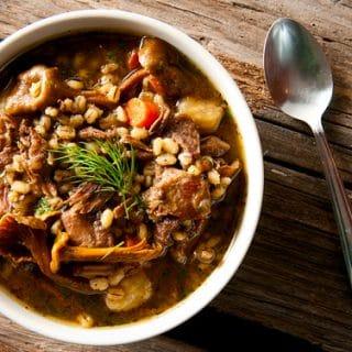 goose stew barley recipe