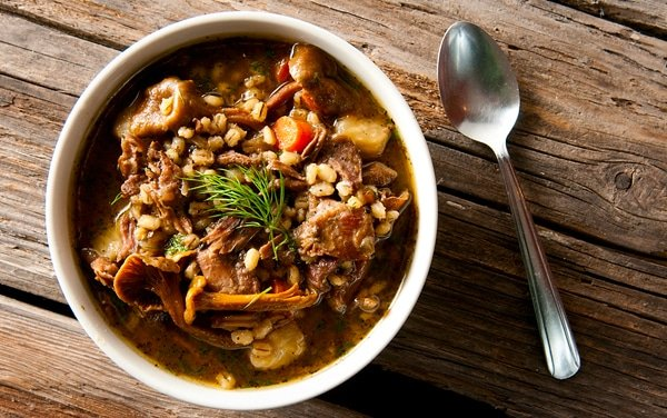 goose stew barley recipe