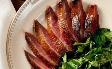 smoked duck slices