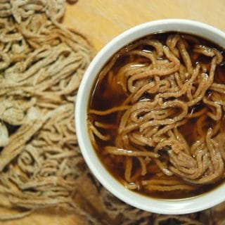 venison broth with noodles