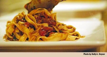 Polenta With Sugo Finto Recipe — Dishmaps