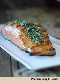 salmon with chimichurri