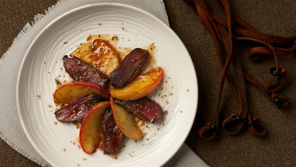 duck breast with apples recipe