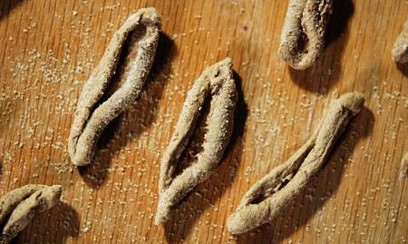acorn flour cavatelli