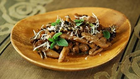wild mushroom ragu with cavatelli