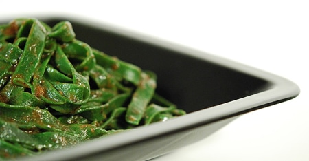 nettle pasta with vension sauce