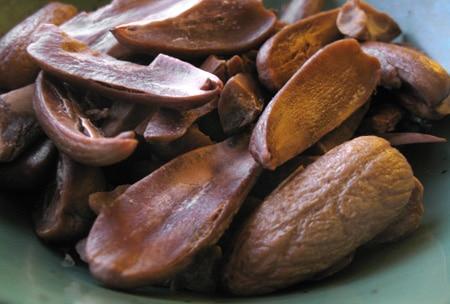 roasted Valley oak acorns