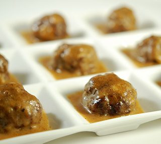 Swedish meatballs made with moose meat