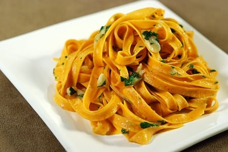 Calabrian chile pasta with parsley and garlic