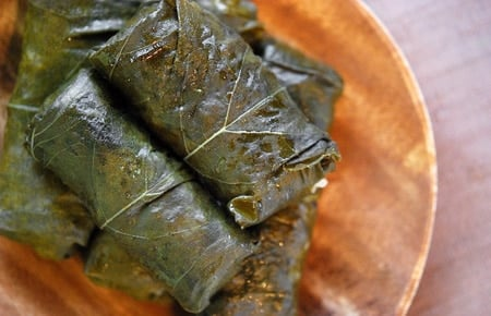 mallow leaf dolmas