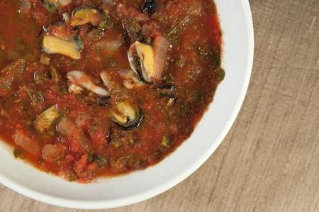Italian mussels soup
