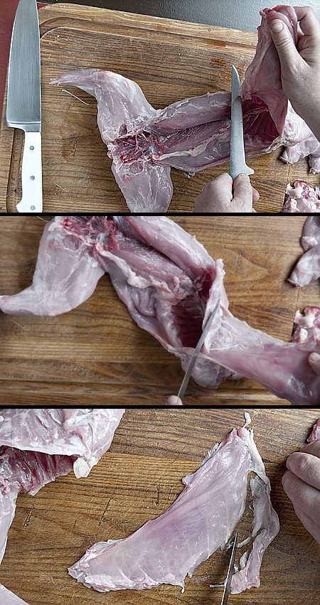 how to butcher a rabbit