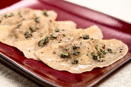 porcini ravioli