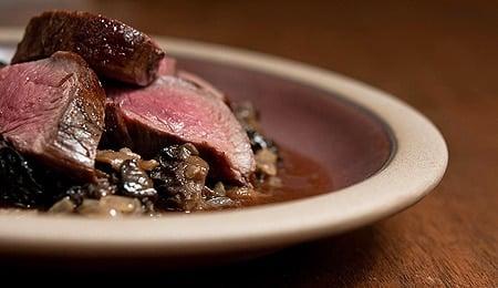 venison tenderloin with fresh morel sauce