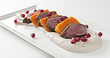 goose with root vegetables