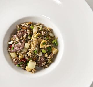 wild duck fried rice recipe, done with wild rice