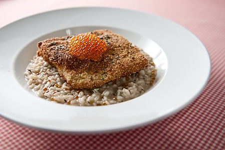 pine nut encrusted trout