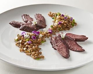 shartail grouse with farro recipe