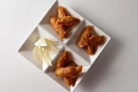 fried yucca flowers