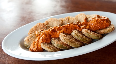 fried green tomatoes romesco