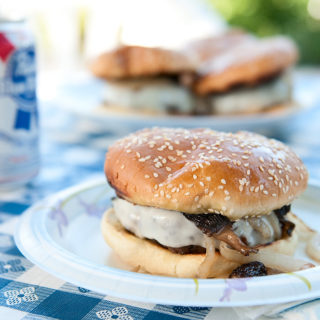 Venison Burgers with Mushrooms