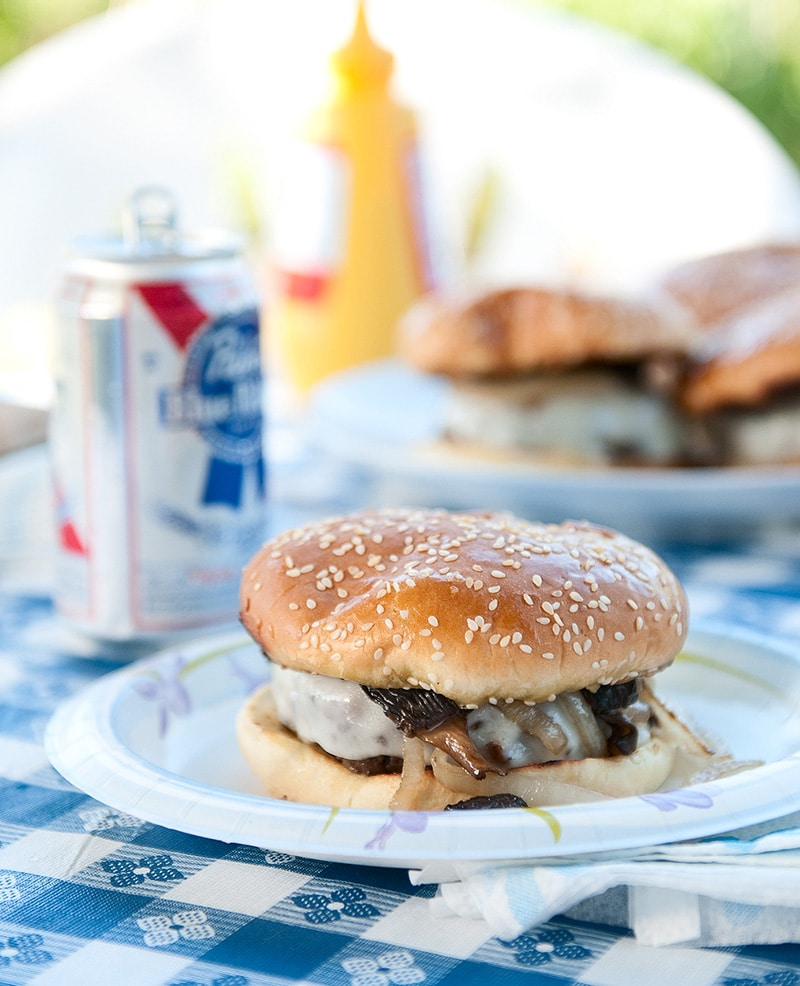 venison mushroom burgers recipe