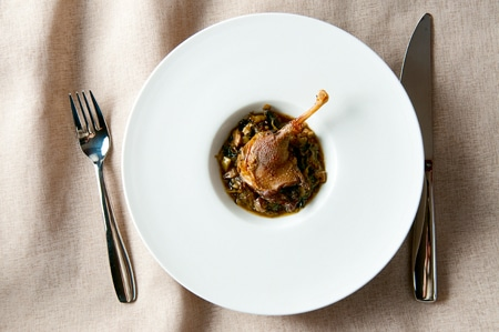 A recipe for braised duck legs