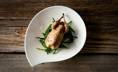 roast snipe with sea beans