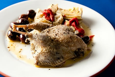 Greek quail recipe