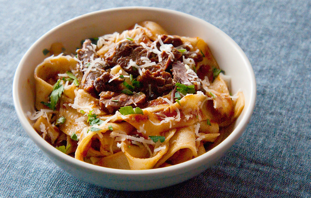 hare ragu with pappardelle