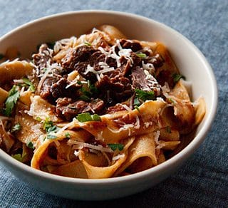 Tuscan Hare Sauce and Pappardelle