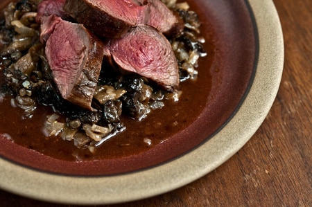 venison with morel sauce recipe