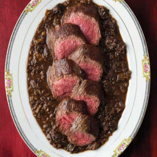 venison with morels recipe