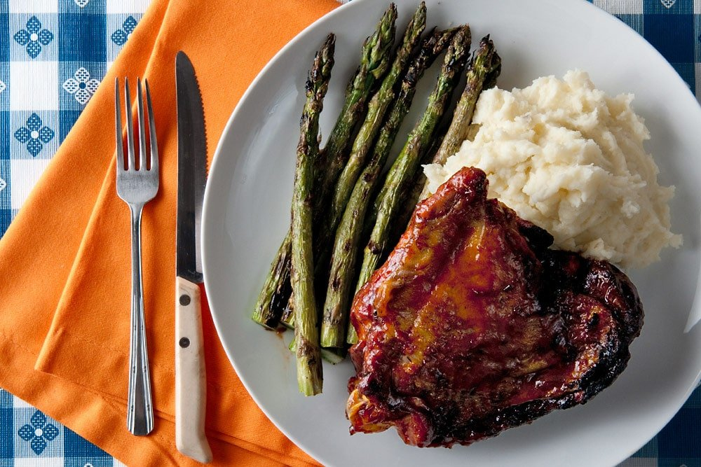 barbecued turkey thighs