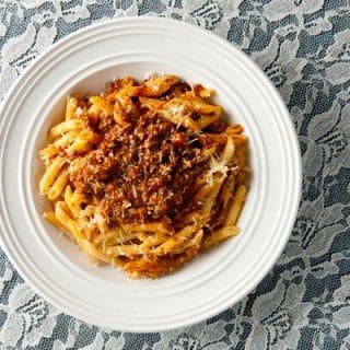 Wild boar bolognese recipe