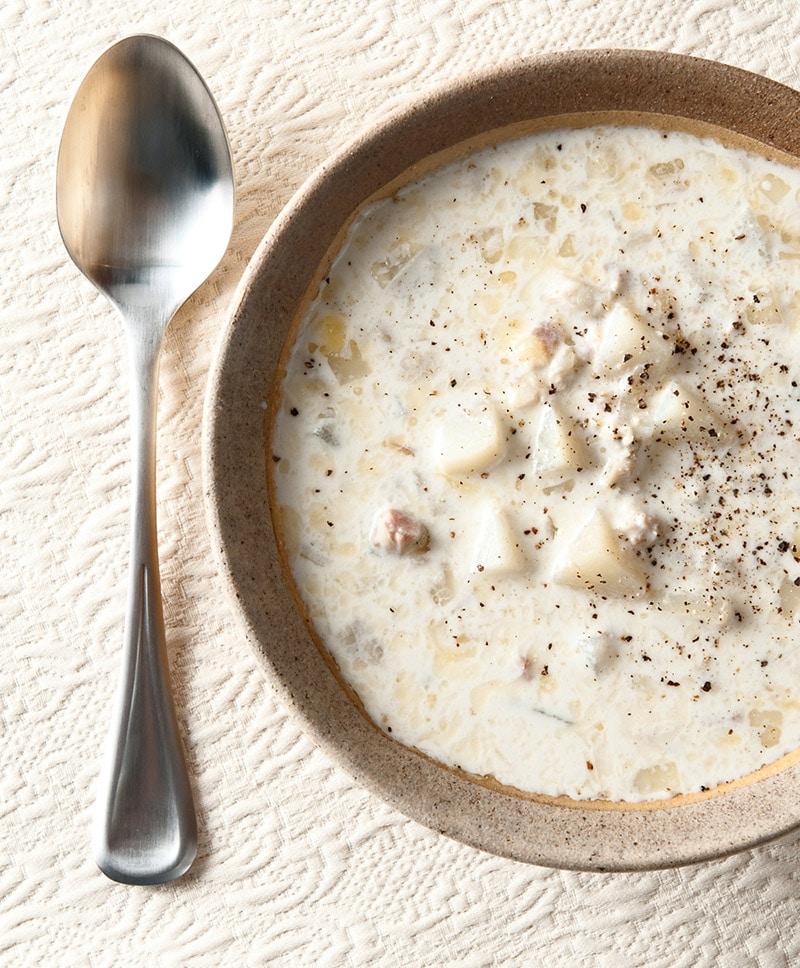 Maine clam chowder recipe