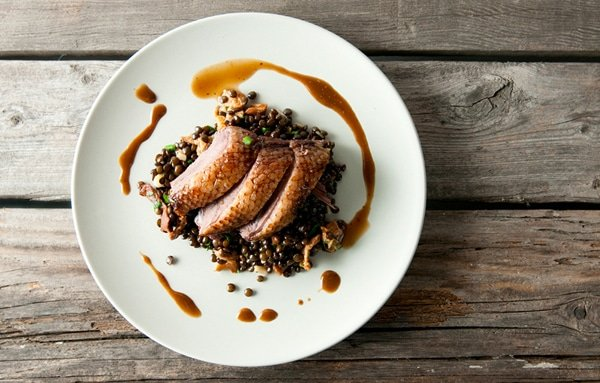 smoked duck with lentils