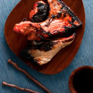 grilled salmon collars recipe