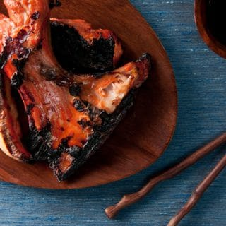 Grilled Salmon Collars with Ponzu Sauce