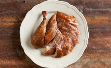 carved smoked pheasant