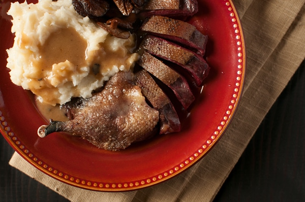 roast duck with maple bourbon gravy