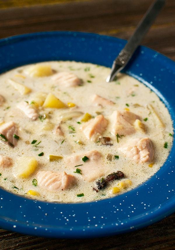 Salmon Chowder or Steelhead Chowder Recipe