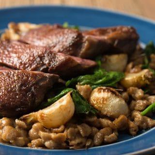 goose breast spaetzle turnip recipe