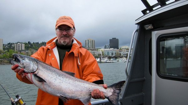 Hank Shaw with spring king salmon