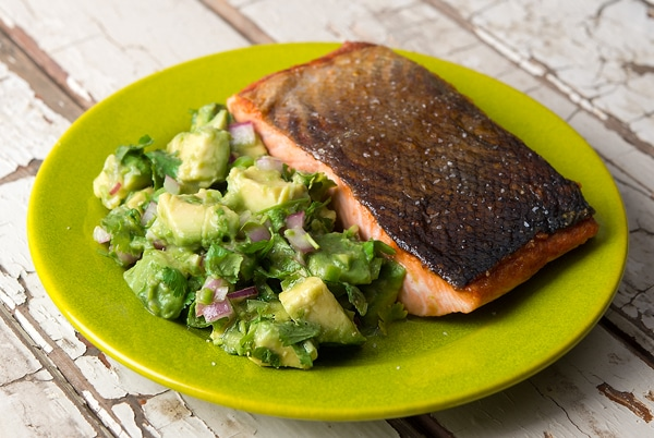 salmon avocado salsa
