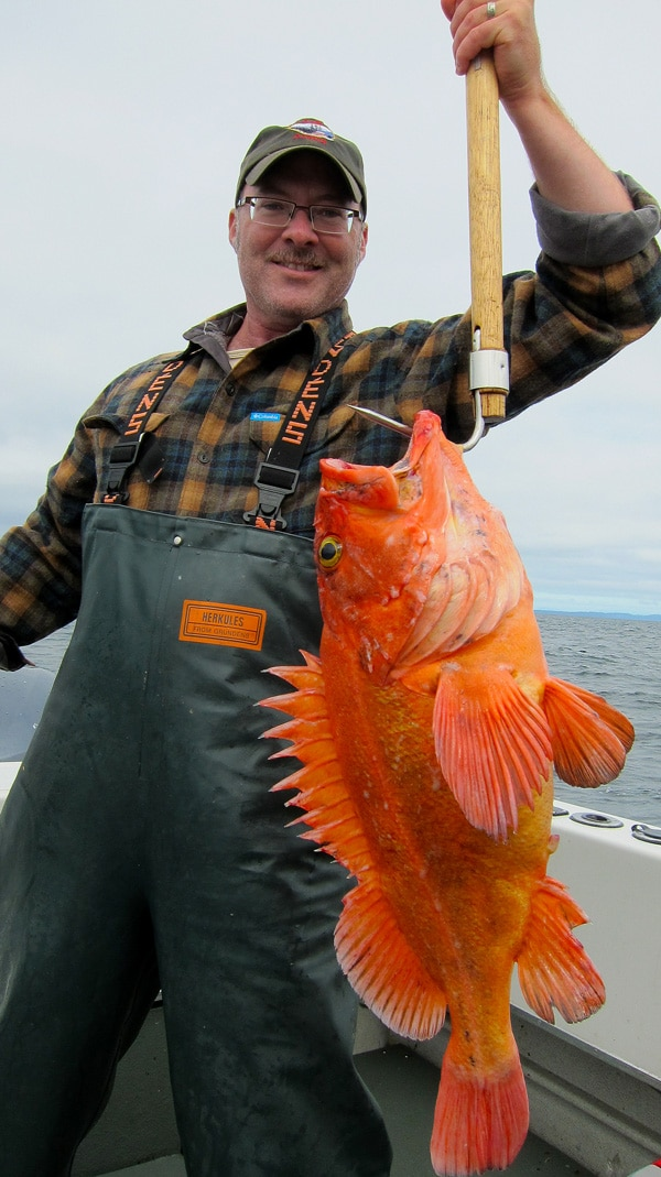 Hank Shaw with rockfish