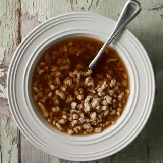duck soup with riebele dumplings