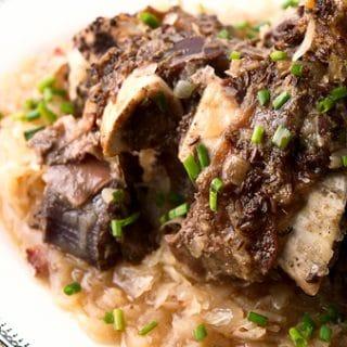 Austrian braised venison shank recipe