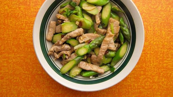 pork with asparagus stir fry