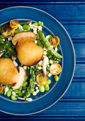 spring porcini salad